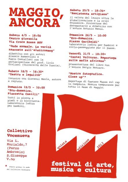 """Il calendario del """"Maggio, ancora"""" 2013"""